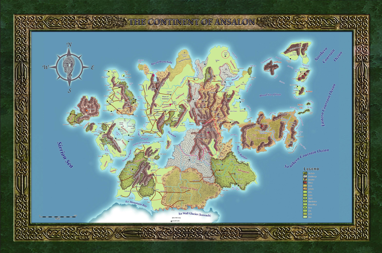 Map of Ansalon MapOfAnsalon