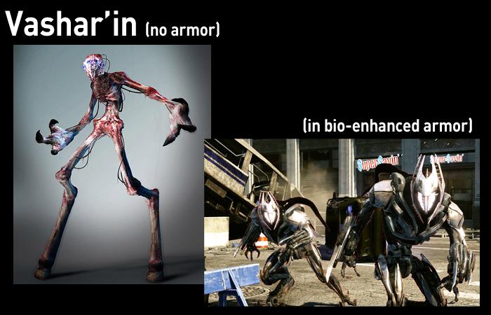 Typical Enemy Units Vasharin